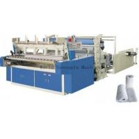 Automatic Toilet Roll Rewinding Machine with Decorative Embossing Pattern Laminator Manufactures