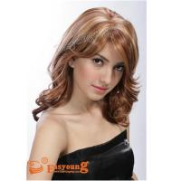 Buy cheap Mixed red color curly hair style wigs E1004 from wholesalers