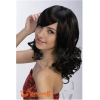 Lady's curly hair wig with long bang hair YS-9010 Manufactures