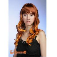 Dye color long curly hair wig,lady's synthetic hair party wigs 8813 Manufactures
