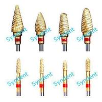 Dental carbide burs - Fine cut with titanium Manufactures