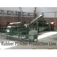 Reclaimed Rubber Production Line Semi-automatic Rubber Powder Production Line Manufactures