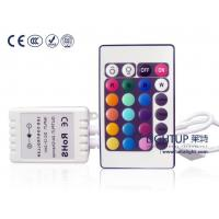 China Up-Accessories LED RGB Remote controller wireless plastic case with 24 buttons 12-24V on sale