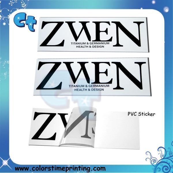 Quality Pvc transparent clear adhesive stickers for sale