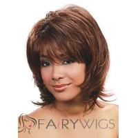 Sexy Short Wavy Brown Full Bang African American Wigs for Women 12 Inch Manufactures