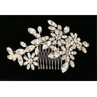 China Bridal crystal headpiece - Vintage floral look - Hair comb - Style Rosaline Wedding Hair Ornament on sale