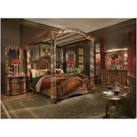 China 72015t-55-cn Aico Furniture Villa Valencia Eastern King Poster Canopy Bed on sale