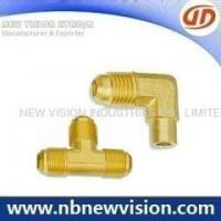 China Brass Fitting Hot Forging Brass Flare Fittings - Tee & Elbow on sale
