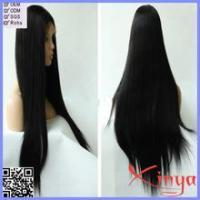 Wholesale Cheap Remy hair silky straight long hair lace front wig Manufactures