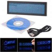 LED NAME BADGES Rechargeable LED Name Badge Blue Color B1144B Manufactures
