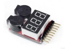 Quality 1-8S Lipo Battery Voltage Tester and Low Voltage Buzzer Alarm for sale