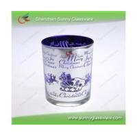 Laser Engrave Pattern Plated Glass Candle Holder with Spraying Manufactures