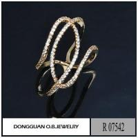 China Rings R7542 Latest Gold Finger Ring Designs Fashion Imitation Diamond Gold Ring on sale