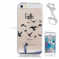 Girl and Birds Painted Non-slip TPU Back Cover for iPhone SE 5s 5 Manufactures
