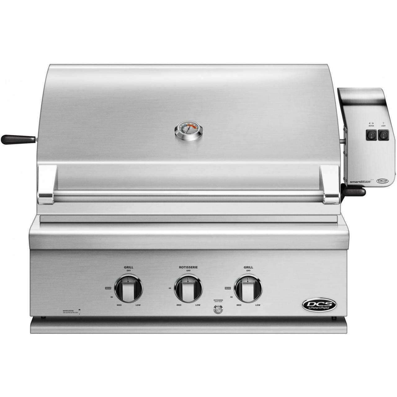 DCS Professional 30-Inch Built-In Natural Gas Grill With Rotisserie - BH1-30R-N