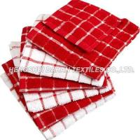China 100%cotton classic grid terry towel tea towel set on sale