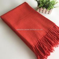 Buy cheap 100%cotton fabric red blanket yarn dyed blanket throw for travel from wholesalers