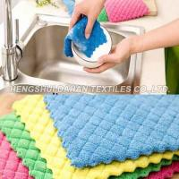 Buy cheap Ultrasonic microfiber kitchen padkitchen sponge scouring pad OCP02 from wholesalers