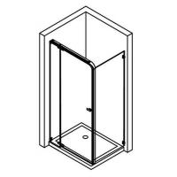 China Shower Enclosure(with Hinged Shower Door) on sale