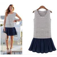 2014 new fashion women brand striped dresses Manufactures