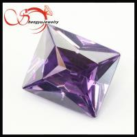 China facet ball shape rectangle Cubic Zirconia,loose violet zircon gemstone on sale