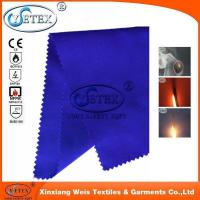flame resistant fabric 100% polyester purple fireproof fabric Manufactures
