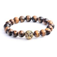 China Wholesale Mens Cheap Indian Bead Gold Lion Head Bangle Amber Bracelet on sale