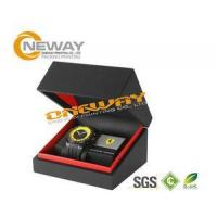 Customized Men'S Style Watch Packaging Box With Hot Stamping Gold Logo Manufactures