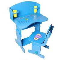 children blue color writing desk with chair Manufactures