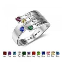 Best Dropship Product * Birthstone & Engraved Sterling Silver Ring#RI102557 Manufactures