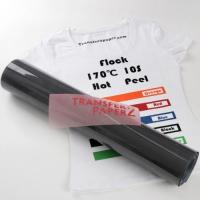 Buy cheap Flocking (black color) heat transfer vinyl for textile from wholesalers