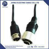 aviation plug 4pin male waterproof waeco vehicle cctv cable for video and audio Manufactures