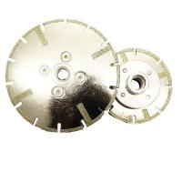 China Reinforcement Electroplated diamond saw blade with flange insert on sale