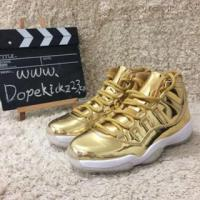 Authentic Air Jordan 11s All Gold Manufactures