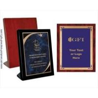 Awards Engraved Standing Rosewood Plaques with Brass Plated Teardrop Plate Manufactures