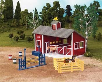 Quality Breyer Stablemates Red Stable Set for sale