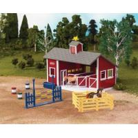 Breyer Stablemates Red Stable Set Manufactures
