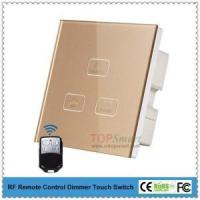 UK Standard 3 key 1 load RF Remote control dimmer touch switch for smart lighting control Manufactures