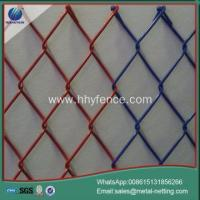 diamond mesh fence galvanized chain link fence Manufactures