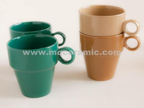 Quality CUP STACKABLE CERAMIC CUP for sale
