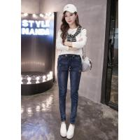 China In the autumn of 2016 elastic waist jeans female slacks feet on sale