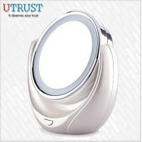 Buy cheap Desktop double normal and 5x magnification makeup mirror with light from wholesalers