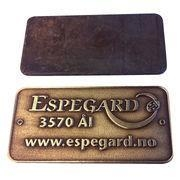 China VT 1.2Inch Custom Engraved Metal Plates