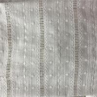 100% Cotton Broderie Anglaise White Embroidered Eyelet Cotton Fabric Manufactures