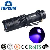 China TOPCOM Money Detector Ultraviolet Black Light 365nm UV Flashlight on sale