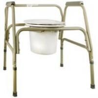 Buy cheap Commode Chair Sunmark Fixed Arms Steel Seat Lid Back 25 1/2 to 32 1/2 Inch from wholesalers