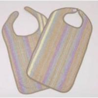 Bib Hook and Loop Reusable Terry Cloth Manufactures
