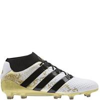 China adidas ACE 16.1 Primeknit FG White/Black/Gold Firm Ground Soccer Cleats - model S76474 on sale