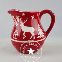 Christmas Ceramic Wholesale Christmas Reindeer Ceramic Jug Pitcher Supplier Manufactures