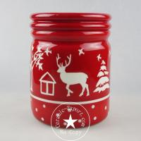 Christmas Ceramic Wholesale Christmas Reindeer Ceramic Canister Jar Manufacturer Manufactures